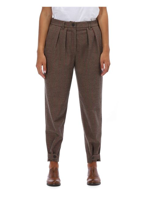 Pantalone motivo check SEMICOUTURE | Pantalone | Y0WI06BEIGE