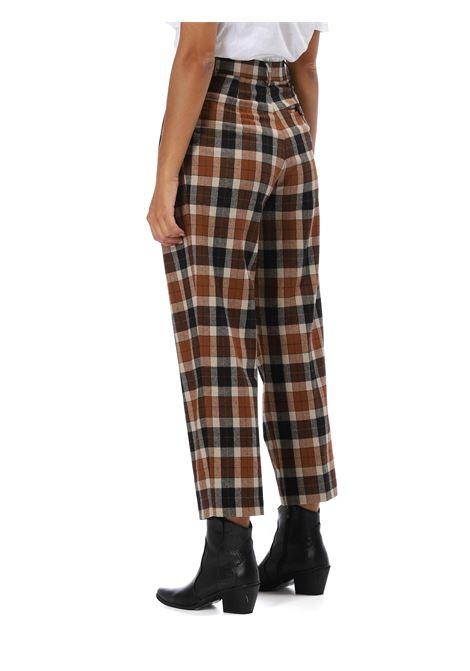 Pantalone motivo check SUOLI | Pantalone | S3214020MORO