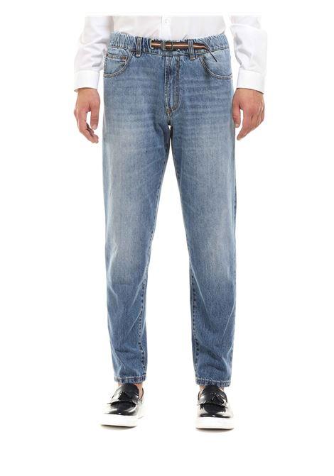 Jeans  con elastico in vita  e cinturino WHITE SAND | Jeans | 20WSU44700LC1