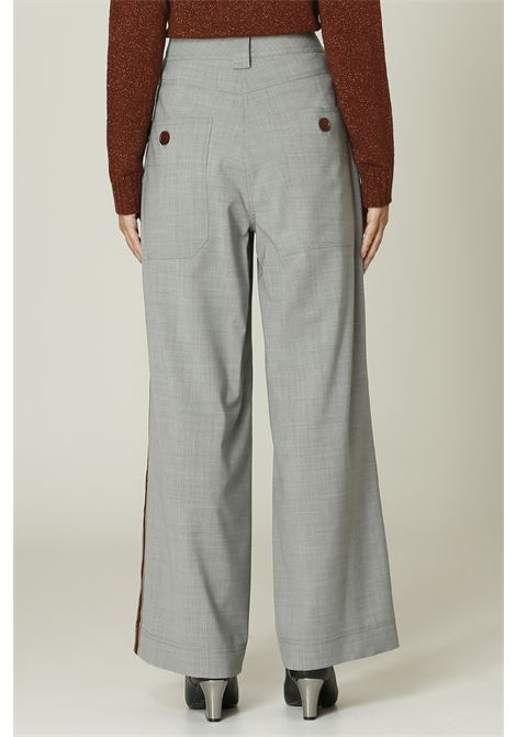 Pantalone con bande ALYSI | Pantalone | 151130A1211GRIGIO