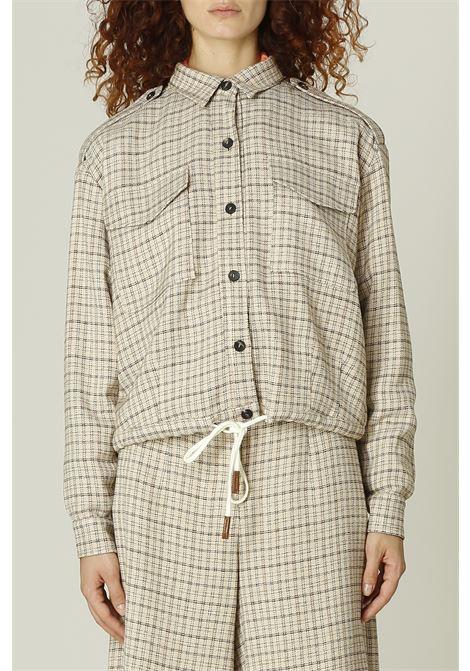 Camicia check ALYSI | Camicia | 151803A1025BEIGE