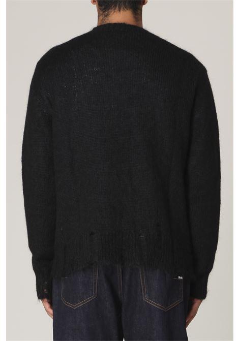 Maglione con rotture GRIFONI | Maglione | GL110067/70NERO