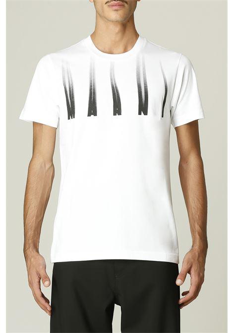 T-shirt con stampa logo MARNI | T-shirt | HUMU0198P000W01