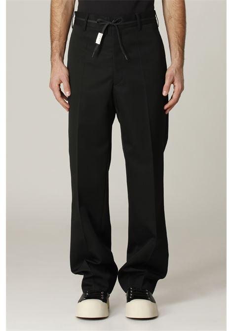 Pantalone con pince MARNI | Pantalone | PUMU0110A000N99