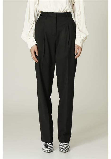 Pantalone vita alta MERCI | Pantalone | P304NERO