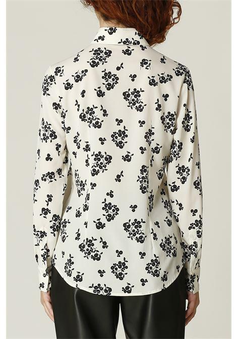 Camicia stampa fiori OTTODAME | Camicia | EC4564PANNA