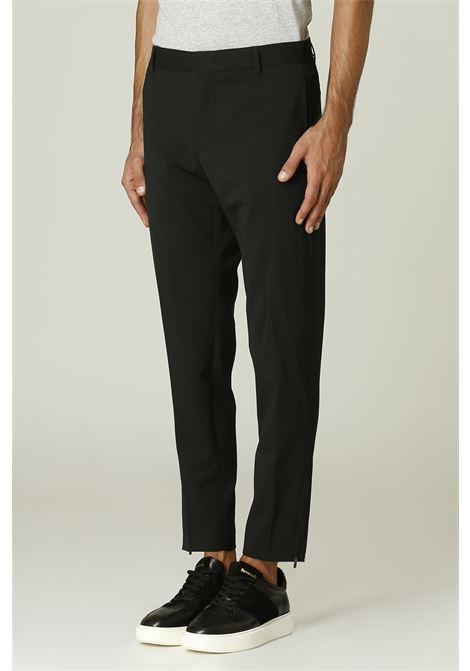 Pantalone con zip PT TORINO   Pantalone   RF06NERO