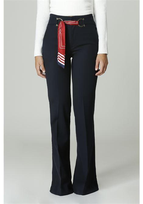 Pantalone con foulard SEAFAFER | Pantalone | SWP0007TWS0002BLU