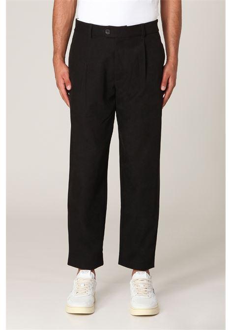 Pantalone con pince SILTED   Pantalone   DAVVE-BKNERO