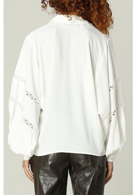 Camicia con collo ricamato SIMONA CORSELLINI | Camicia | A21CPBL005BIANCO