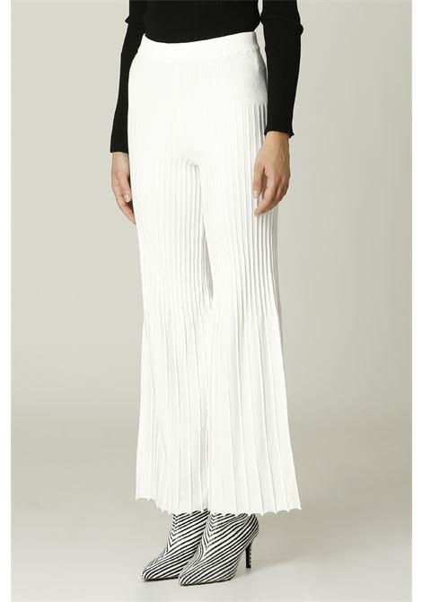Pantalone in maglia SIMONA CORSELLINI | Pantalone | A21CPPAE01BIANCO