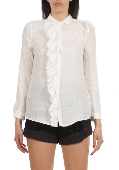 Camicia con rouches AGLINI | Camicia | MAGNETITE_S21_F830.36141841