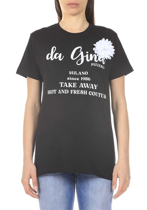 T-shirt con scritta GINA | T-shirt | GI110713/A999