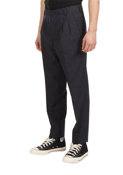 Pantalone con pince GRIFONI | Pantalone | GI140002/36BLU