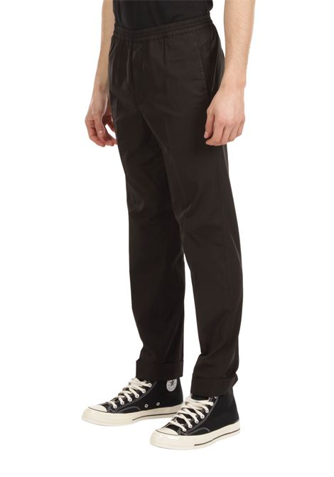 Pantalone con coulisse in vita GRIFONI | Pantalone | GI140007/13NERO