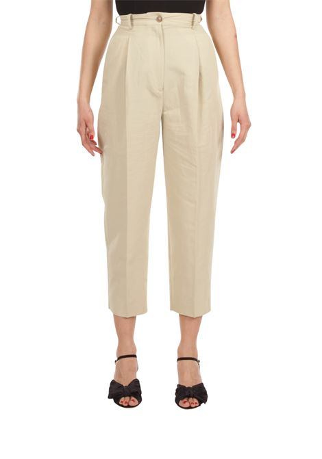 Pantalone lino GRIFONI | Pantalone | GI240023/26BEIGE