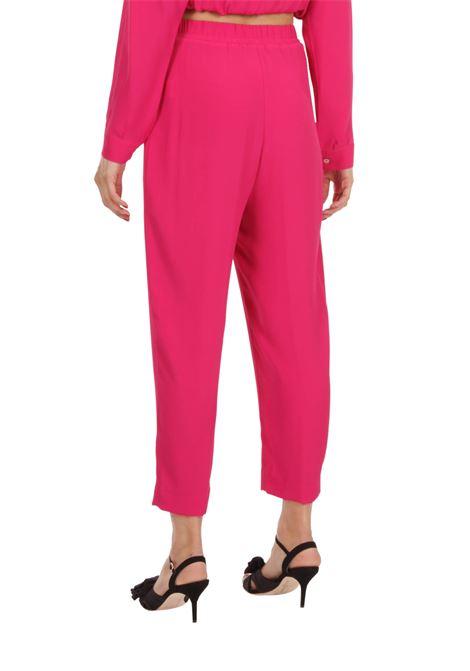 Pantalone vita alta GRIFONI | Pantalone | GI240025/7FUXSIA