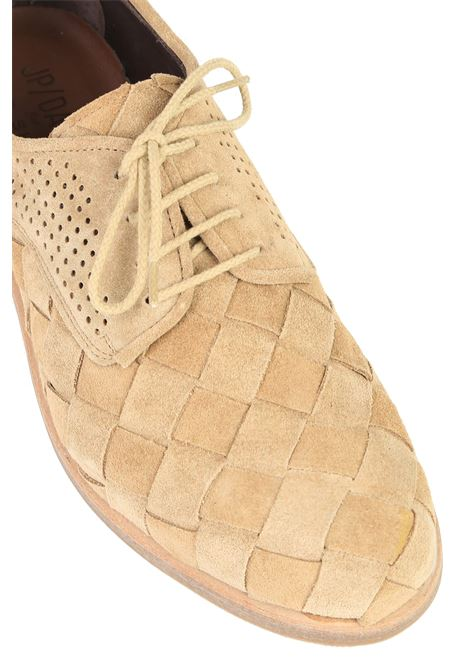 Stringata in suede JP DAVID | Scarpe | 37663/1BEIGE