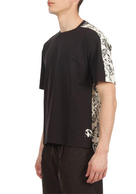 T-shirt con popeline stampato MARNI | T-shirt | HUMU00090Q0STJ333