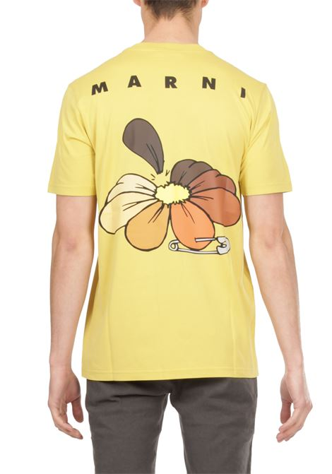 T-shirt con stampa logo MARNI | T-shirt | HUMU0205P0S23727