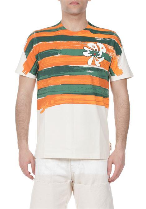 T-shirt con stampa MARNI | T-shirt | HUMU0222P0S23727