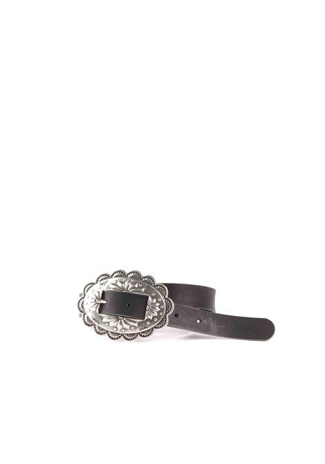 Cintura con Fibbia MERCI | Cinture | CINT25NERO