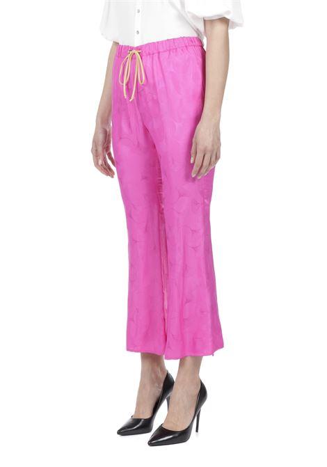 Pantalone ricamo MERCI | Pantalone | P261JFLAMINGO