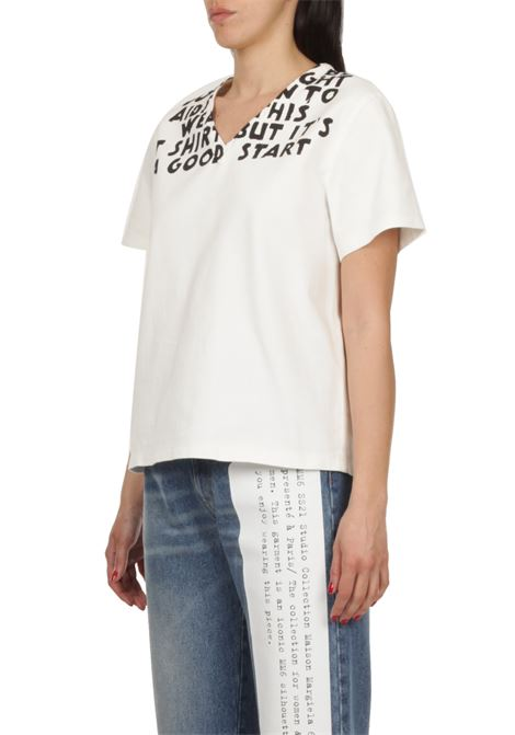 T-shirt in Denim MM6 MAISON MARGIELA | T-shirt | S62NC0062-S30653101