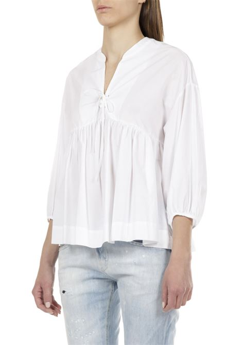 Camicia con laccio OTTODAME | Camicia | DC4485BIANCO