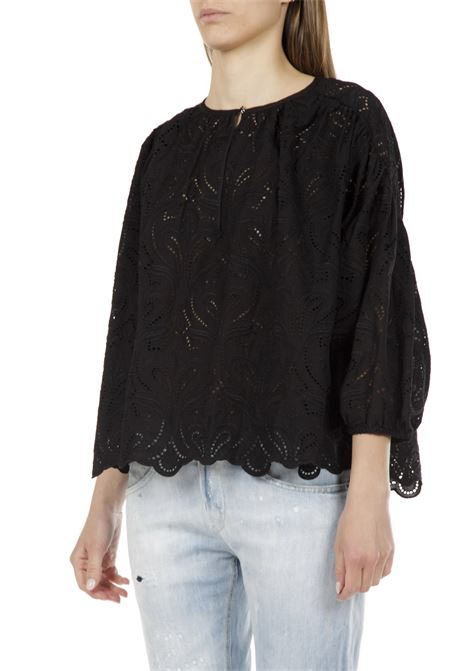 Camicia in pizzo OTTODAME | Camicia | DC4496NERO