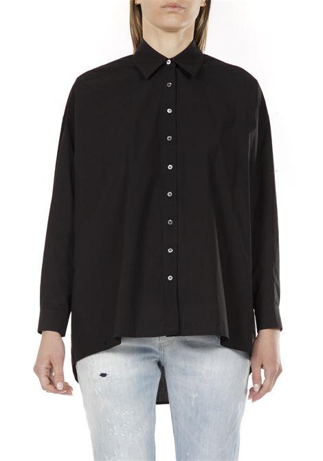 Camicia Oversize fit OTTODAME | Camicia | EC4123NERO