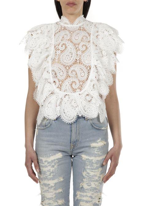 Camicia in merletto PNK | Camicia | T01BIANCO