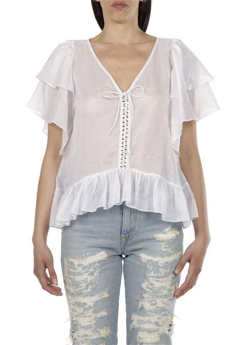 Camicia con stringhe PNK | Camicia | T09BIANCO