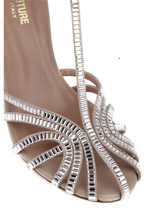 Sandalo con applicazioni SEMICOUTURE | Sandalo | Y1SZ06A10
