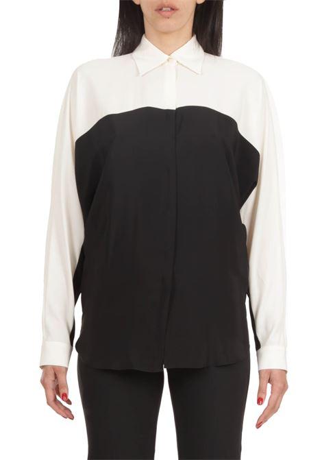 SIMONA CORSELLINI | Shirt | P21CPCA001-01-TACE0002NERO/BIANCO