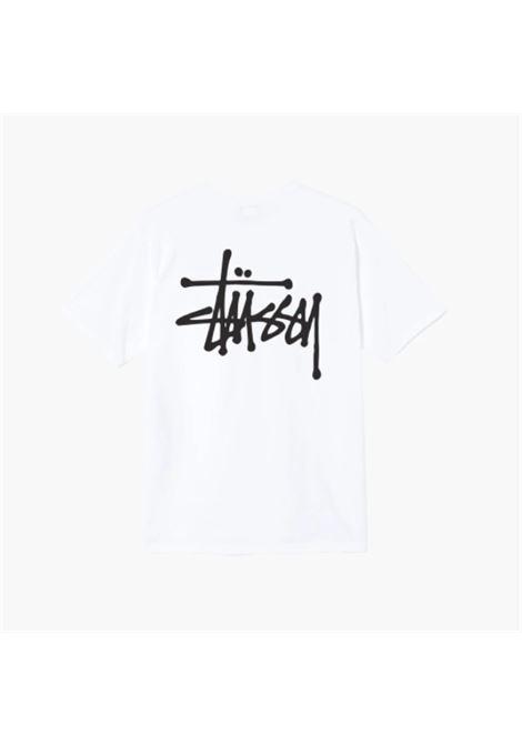 T-shirt con stampa logo STUSSY   T-shirt   1904649BASIC STUSSY B
