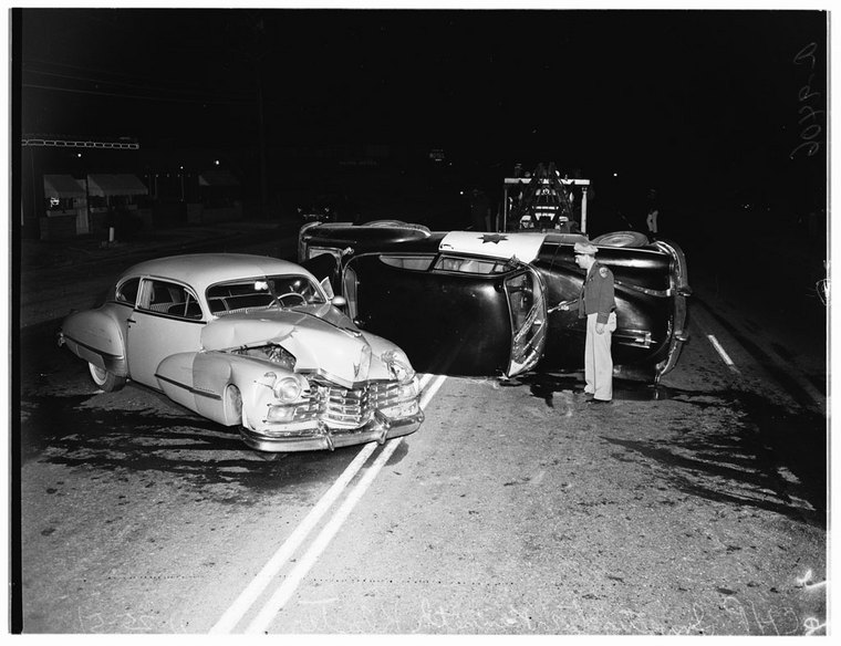 Los Angeles Car Accident: 1950's Crash Pics From Los Angeles