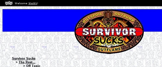 Ezboard survivor suck