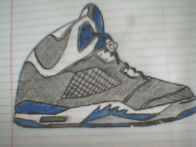 new product ba36f 6ef11 Drawing of the Jordan V..First time at colorway   NikeTalk
