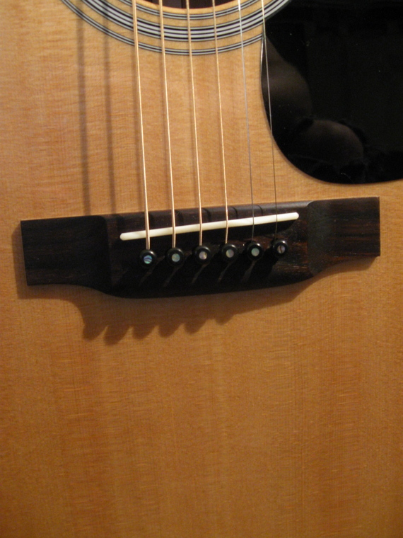 ebony bridge pins added to my d 18 the unofficial martin guitar forum. Black Bedroom Furniture Sets. Home Design Ideas