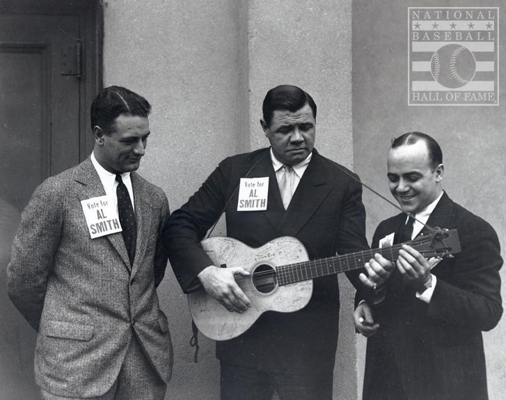 Ruth Campaigning For Al Smith In The 1928 Presidential Election Does This Look Like A Martin That Is Holding My Cur Guess It S