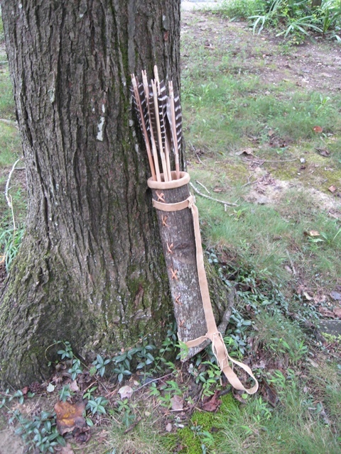 Banner Image: Poplar bark quiver made by Pamunkey