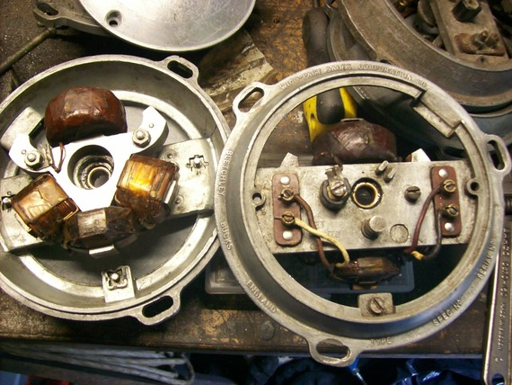 Reconditioning The Mk55 Stator Plates And Lighting Coils