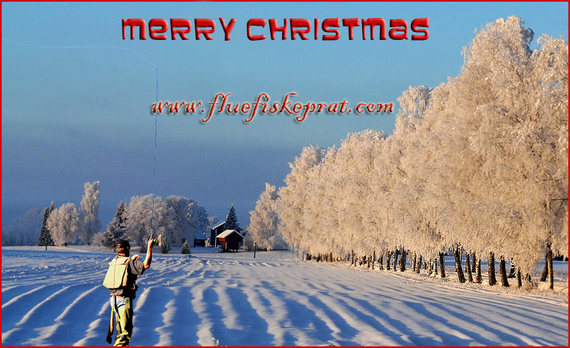 Merry Christmas In Norwegian.Ultralight Fly Fishing Merry Christmas From Akershus Norway
