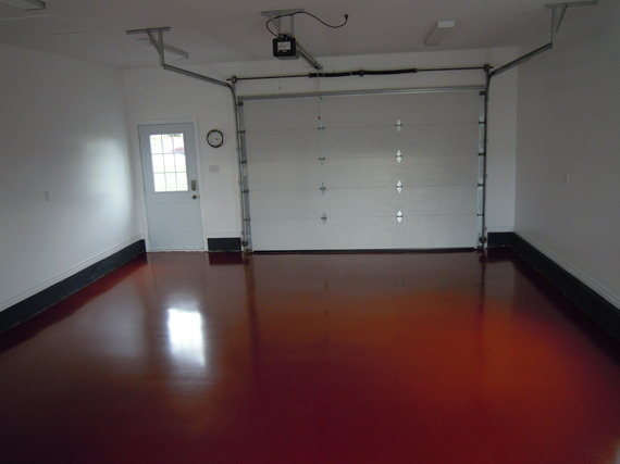 Red Garage Floor