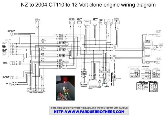 honda ct90 wiring diagram wiring diagram for a lifan conversion - honda trail - ct90 ...