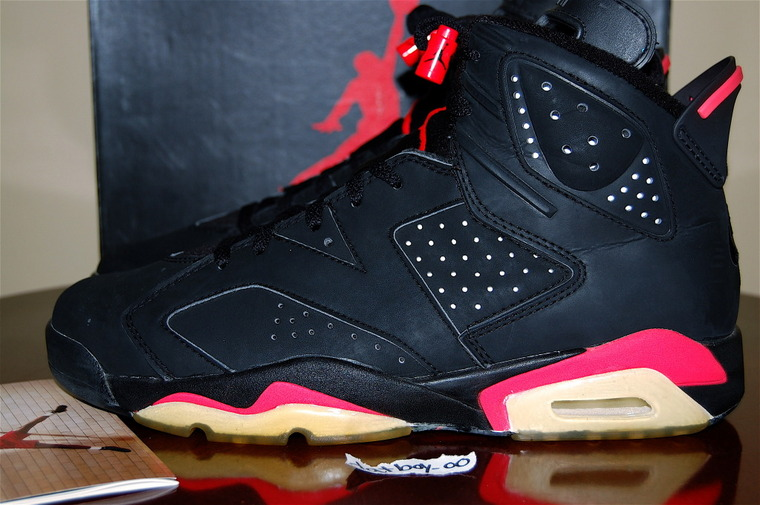 huge discount 80443 60819 Air Jordan 6 Black/Infrared 1991 vs. 2000 vs. 2010 ...
