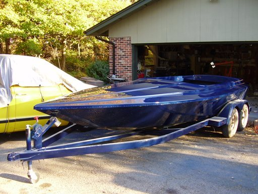 And Finally The Finshed Paint Job Took Me About Three Weeks From When I Got Boat To This Point