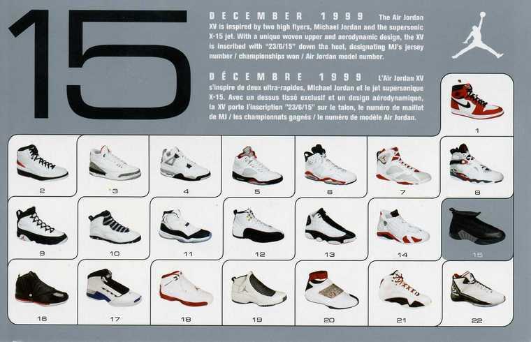 Jordan Shoe Card List