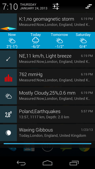 Eweather Hd 47 For Android Released Four Day Weather Forecast In